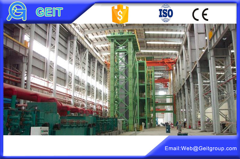 Continuous steel coil annealing and galvanizing line