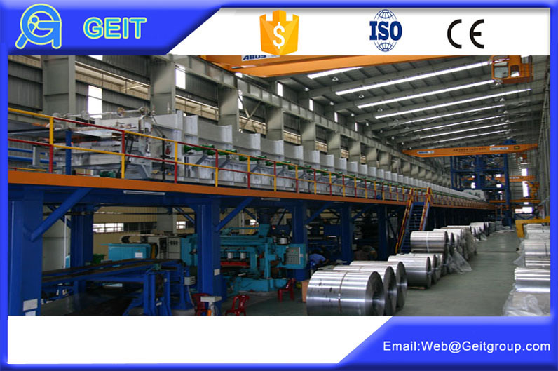 Continuous hot rolled galvanizing lines